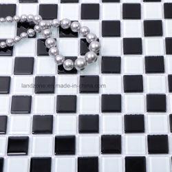 Preto e branco cristal de vidro de 4 mm do mosaico da piscina