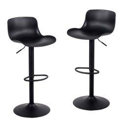 Younike taburete de bar con altura ajustable y rotación de 360° Barstool negro