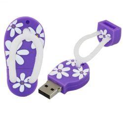 Chaussures de dessin animé personnalisé Slipper forme lecteur Flash USB 32GB 6GO USB Stick