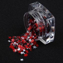 Por0024 cintilantes em pó faíscas em caixa de plástico para bricolagem e Creative