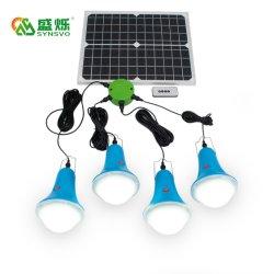 4*3W Lámpara LED recargable Solar Panel Solar Sre-99g-4 para uso en interior al aire libre