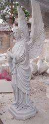 새기기 대리석 화강암 묘소 동상 묘지 조각품 (SY-X1205)를 위한 기념하는 천사 묘석을