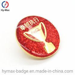 Hot sales Placage Or Hard Soft broche métallique émail d'un insigne avec paillettes d'or pour l'anniversaire de souvenirs de l'événement