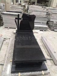 Pietra tombale/monumento/Headstone neri naturali del granito della Cina per il giardino di Cremetery