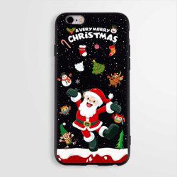 Cadeau du père Noël classique TPU Téléphone cellulaire Étui pour iPhone 8
