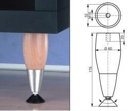 الخشب والساق الفولاذية عالية الجودة المستخدمة للطاولة