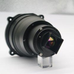 焦点距離100mm 640*512-17um 1.0 8-12um 88%の13.93mm手動焦点Ar赤外線イメージ投射非冷却の探知器の熱探知カメラモーターを備えられたレンズ