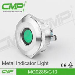 lampadina di segnalazione dell'acciaio inossidabile di 28mm