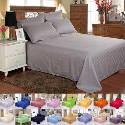 Haupthotel-Zubehör-Luxuxbaumwollsatin-Streifen-Bettwäsche-Bett-Blatt