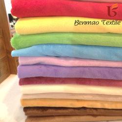 Coldproof Short-Pile poliéster macio tecido de veludo para roupa térmica
