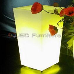 Maceta RGB LED iluminado, cubo de hielo