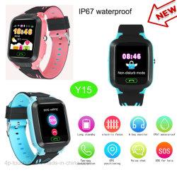 IP67 étanche réel Kids Baby GPS Tracking montre téléphone Y15