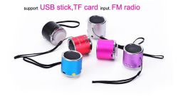 Dom barata Speaker Mini Apoio de alto-falante do rádio FM TF Card e USB