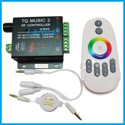 12V-24V Capteur sonore sans fil de sortie 2 de la musique LED RVB de la moitié Touch contrôleur RF à distance