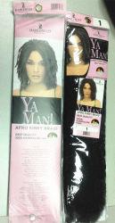 Extensión sintética 100% del pelo de la torcedura X del Afro de la fibra de Kanekalon de la trenza rizada de la presión Lbh 061