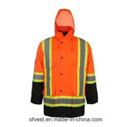 2020 réfléchissant de la sécurité de gros de vêtements de travail durables Veste haute visibilité