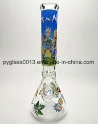 14 polegadas 7 mm de espessura vitrais coloridos de papel fumar Tubo de água com preço de fábrica de vidro