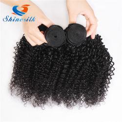 Il tessuto malese dei capelli ricci di Afro dei capelli delle donne impacchetta i capelli umani di Remy che tessono il colore naturale nessun spargimento del groviglio