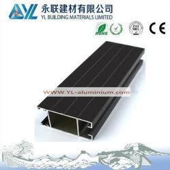 Preto anodização 8-10 um de alumínio para portas e janelas