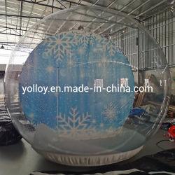 Noël Boule de Neige gonflable Airblown clair tente avec de la poudrerie