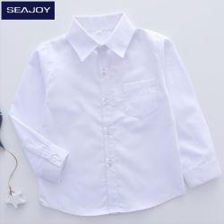 Langes Hülsen-Kind-Schule-Baumwollhemd-Kind-Kleid-beiläufige Hemden anpassen
