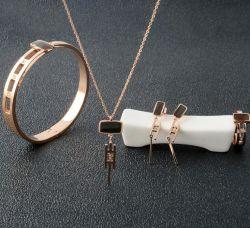 La moda de joyería de acero inoxidable Juego de joyas collar de diamantes