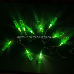 La décoration d'éclairage personnalisé bouteille en plastique d'alimentation batterie voyant feux de chaîne