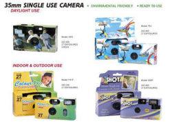 Máquinas fotográficas descartáveis com ou sem flash
