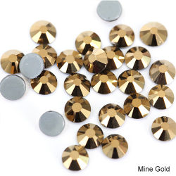 Kingswick Crystal Aurum золото по разминированию раунда утюг на исправление Rhinestone свинца для утюга в стиле передачи