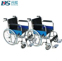 L'hôpital de 24 pouces léger pliage manuel de métal commode pour les personnes âgées en fauteuil roulant