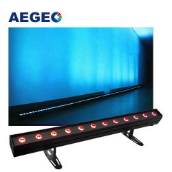 DJ DMX Lghting 12x15W UV RGBWA 6en1 LED bañador de pared Punto de control de luces LED de barras lineales