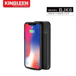 Bewegliches Aufladeeinheits-Telefon-Kasten iPhone X, Satz-schützendes aufladenfall iPhone X der nachladbaren Batterie-3600mAh