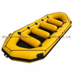 PVC robuste à bas prix d'aviron en caoutchouc radeau gonflable de pliage