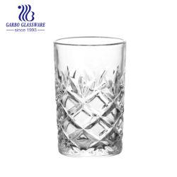 Gravierte eleganter arabischer Art-Glascup-schwarzer Tee-Cup-Wasser-Saft-Zylinder-Glastrommeln (GB040906ZS)