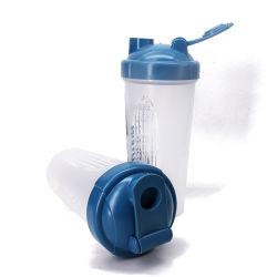 500ml Logo personnalisé Sports protéine Shaker tasse en plastique de conditionnement physique avec la bille de l'eau Agiter