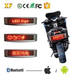 Naar maat gemaakt 12V LEIDEN van de Motorfiets 12X72r/van Batery Bluetooth Teken met de Controle van IRL en Meertalige Steun