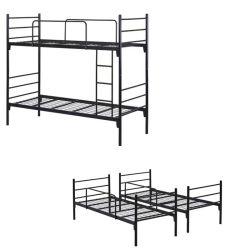 군사 학교 강 더블 데커 메탈 침대 이층 침대