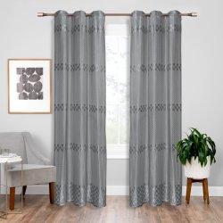 100% de poliéster Lace Design Jacquard Warp Cortina de tecido de tricotar