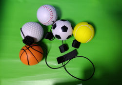 Pu stress Yo Yo Palline sportive Design Basket Calcio Baseball Tennis Ball e Golf Ball