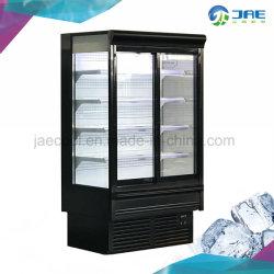 Dispositivo di raffreddamento di vetro del portello della visualizzazione dritta commerciale della bevanda