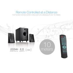 2.1 Bluetooth Lautsprecher mit drahtlosem Fernsteuerungs für Computer Fernsehapparat