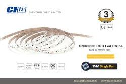 15mの長い生命ランプRGB DC12V SMD 3838 LEDのストリップ