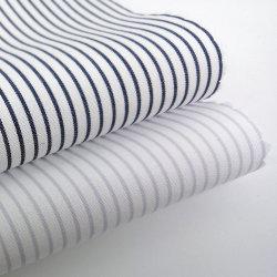 準備ができた在庫60sの標準的な縞の綿の衣服ファブリック