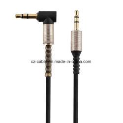 Аудиокабель 3,5 мм под углом 90 градусов плоский разъем 3,5 мм кабель Aux для iPhone, Разъем для наушников Beats, оратор