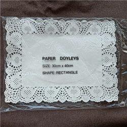Rectángulo Doilies desechables de papel, colorida Doilies en venta