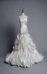 Strapless Kleding Mr1824 van het Huwelijk van de Prinses van de Parels van Champagne van de Toga's van de Bal van het Satijn Bruids