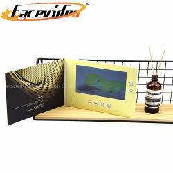 Оптовая торговля подарок Craft рекламы Player 7-дюймовый ЖК-дисплей панели управления Печать электронной открытки видео брошюра журнал с аккумуляторной батареи