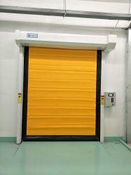 Depósito de Armazenagem Fria Interior Sala de Limpeza Automática Rápida Ação Rápida Freezer Zipper Auto Reparação arregaçar Overhead enrolar Fabric PVC Porta de Alta Velocidade