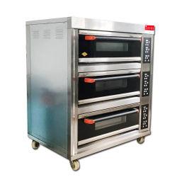 Handelstellersegment-Nahrungsmittelbrot-Gas-Pizza-Backen-Ofen-Bäckerei-Gerät der küche-3 der Plattform-6