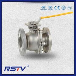 Con brida 2PC Válvula de bola de acero inoxidable con ISO5211 Placa de fijación